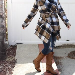 Dollhouse Chestnut Commander Over The Knee Boots